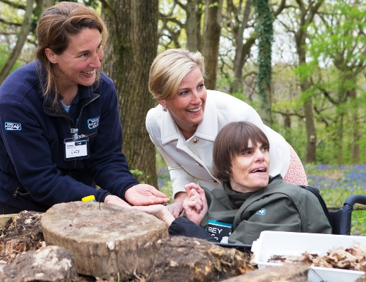 Countess of Wessex attends Surrey project opening