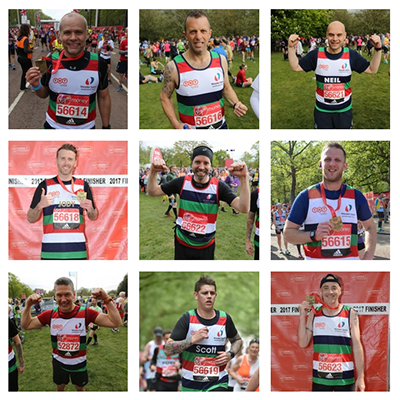 TNT London Marathon runners