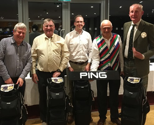 Hertfordshire golfers: winners receive PING golf bags