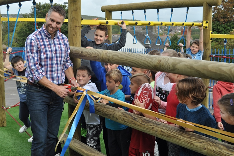 Cadoxton Primary adventure trail opening