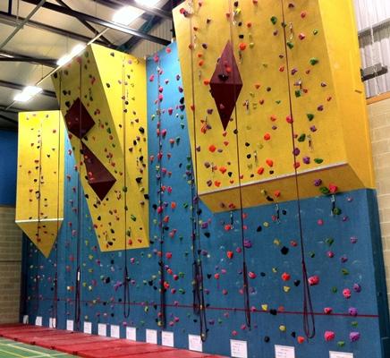 Writhlington School climbing wall