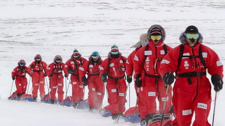 Arctic rugby challenge - trekking