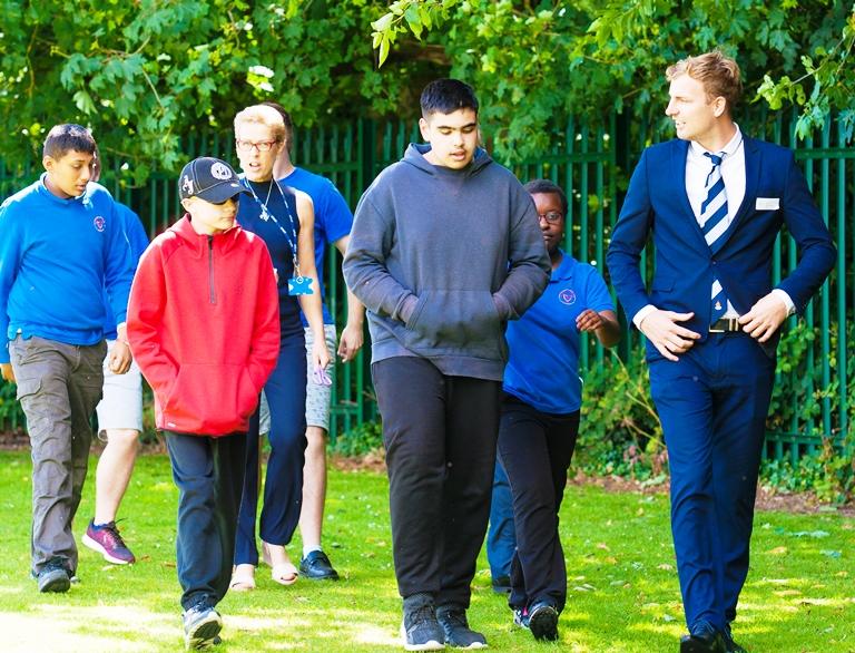 Baginton Fields School, Will Maisey opens trim trail