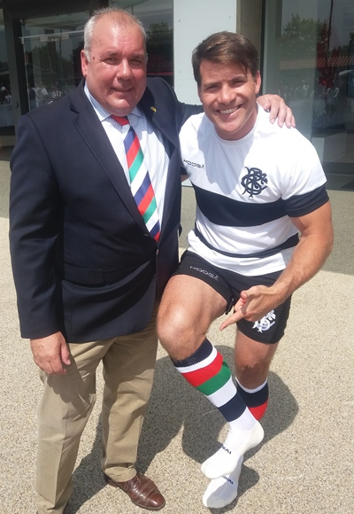 Schalk Brits wearing WS socks with Ian Lindsay