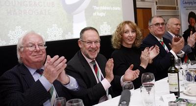 Top table guests: Nick Brown, Hon President, Quentin Smith, Chair of Trustees, Debbie Sweet, Head at Highbury School, Stuart Watson, Yorkshire chairman, Tom Shanklin, Welsh international