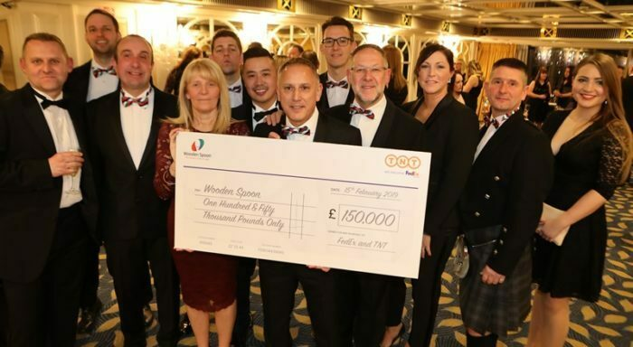TNT cheque presentation - Rugby Ball 2019