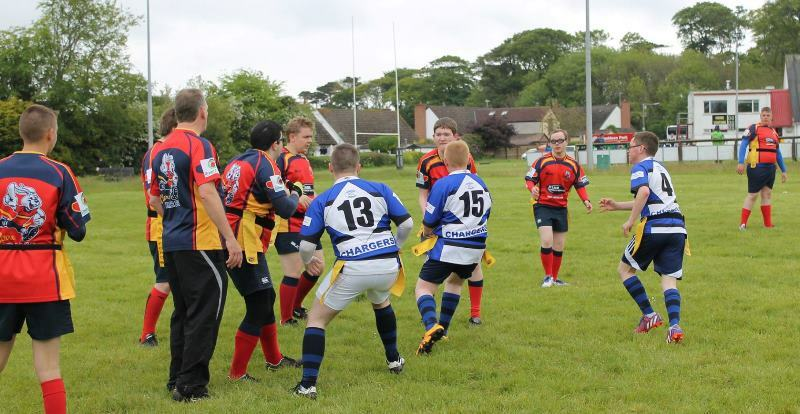 Clare Hares tag rugby festival