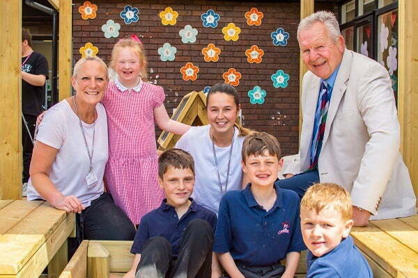 Sir Bill officially opens sensory reaction area at Red Marsh School