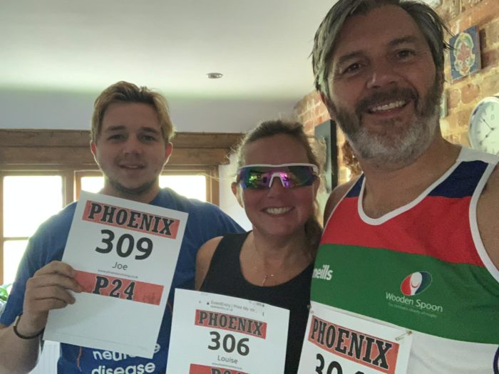 Miles, Louise and son Joe taking on the Phoenix P24 Marathon